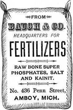 Vintage Fertilizer Sack Image! - The Graphics Fairy