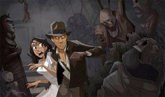 Indiana Jones: Animated Adventures - Indy and Marion
