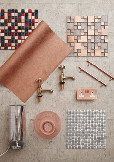 Metallic-inspired designs: Think golds copper brass and rose golds etc whether that's in the form of tiles taps handles or other accessories. Complement with shimmering pieces for a real luxe feel. Cooper Kitchen, Trendy Home Decor, Diy Cutting Board, Metallic Wallpaper, Kitchen Handles, Custom Woodworking, Other Accessories, Rose Gold Kitchen Accessories, Design Inspiration