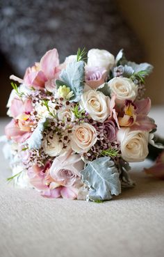 Pale Colors Wedding Bouquet  - PHOTO SOURCE • AMBRE WILLIAMS PHOTOGRAPHY | Featured on WedLoft