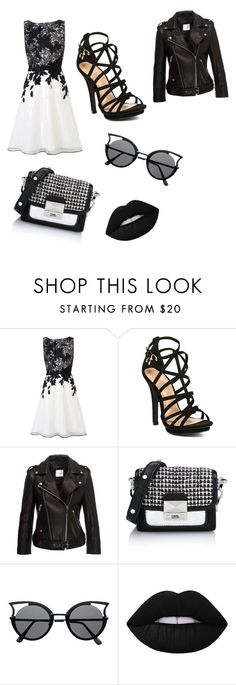"""""""day out"""" by khatira-rahman ❤ liked on Polyvore featuring Coast, Karl Lagerfeld and Lime Crime"""