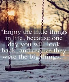 Enjoy The Little Things In Life-Inspirational Quotes