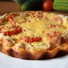 Torta de ricota com tomate   Substituir o trigo por outra farinha do bem