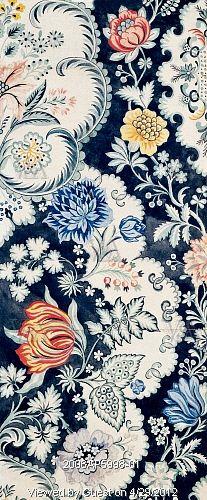 Textile design, by Anna Maria Garthwaite (1690-1763). Watercolour. Spitalfields, London, 18th century.