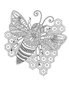 Bee Coloring Pages for Adults - Bee Coloring Pages for Adults , 11 Best Inspirational Adult Coloring Pages Images On Bee Coloring Pages, Adult Coloring Book Pages, Mandala Coloring Pages, Animal Coloring Pages, Free Coloring, Coloring Books, Coloring Sheets, Tangle Doodle, Zentangle
