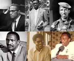 Malcolm X - Patrice Lumumba - Thomas Sankara - Robert Sobukwe - Walter Rodney - Tavio Amorin