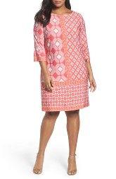 New Taylor Dresses Print Shift Dress (Plus Size) online, New offer for Taylor Dresses Print Shift Dress (Plus Size) @>>hoodress dress shop<<