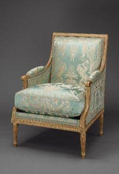 Bergere (Armchair), by Jean-Baptiste-Claude-Sene, French, 1787. MFA, Boston