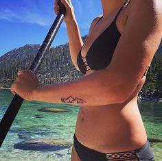 Best Tattoos for Every Zodiac Sign - Perfect Tattoos for Every Astrological Sign Time Tattoos, Foot Tattoos, Forearm Tattoos, Body Art Tattoos, Tatoos, Tattoo Placement Foot, Small Tattoos, Lake Tattoo, I Tattoo