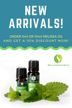 We are glad to announce that we just launched retail quantities of our Melissa essential oil. 🍃 Get a 10% discount on our 5ml and 10ml bottles now! 🎉 Use code MELISSA10 at checkout. Melissa Essential Oil, Pure Essential Oils, Melissa Oil, Lemon Balm, Distillery, Fertility, The Balm, Bottles, Essentials