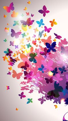 Tree Wallpaper Iphone, Fairy Wallpaper, Smile Wallpaper, Flower Phone Wallpaper, Butterfly Wallpaper, Cute Wallpaper Backgrounds, Butterfly Art, Cellphone Wallpaper, Flower Backgrounds