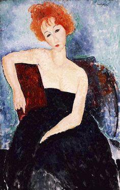 05153a0ff85 Redheaded Girl in Evening Dress