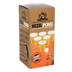 Buy Beer Pong Game today at IWOOT. Pong Game, Buy Beer, Drinking Games, Plastic Cups, Beer Pong, Games To Play, Things That Bounce, Alcohol, Coffee