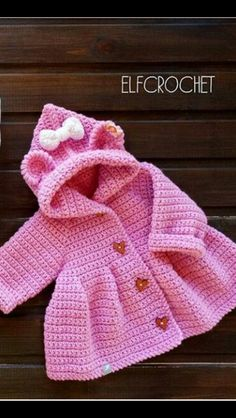What do I have to do to print this pattern ? Crochet Baby Sweater Pattern, Crochet Baby Jacket, Baby Sweater Patterns, Crochet Coat, Baby Girl Crochet, Crochet Baby Clothes, Baby Knitting Patterns, Crochet For Kids, Baby Patterns