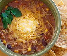 Turkey Chili Taco Soup - great for Fall! Plus 10 more easy lunches for weightloss. From Fitness Magazine