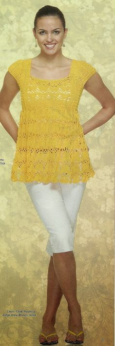 Sent from my BlackBerry  Yellow crochet shirt