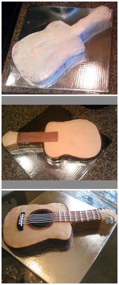 Acoustic Guitar Templates For Cake cakepins.com More