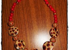 Clay Beads Necklace #PolymerClay #DIYMaterial #PlasticBeads #GlassBeads
