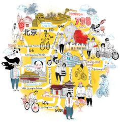 National Geographic map of Beijing. #illustration #map: