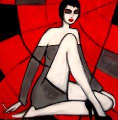 "Ola Lubczynska, ""Complicated"", acrylic on canvas."