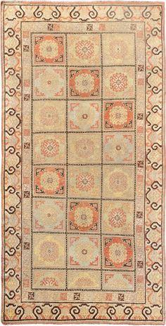 "ANTIQUE SAMARKAND Origin: EAST TURKESTAN Size: 4' 10"" x 9' 4"" Rug ID # 1099"