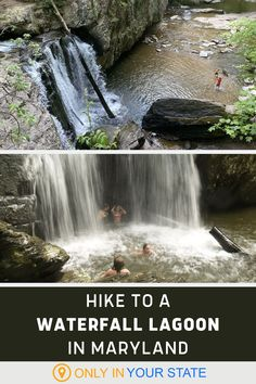 Beautiful all year, this easy waterfall lagoon hike in Maryland is one of the best summer hikes you'll ever take. The trail is beginner and family-friendly and will take you to the most magical waterfall swimming hole. Swimming Holes, Field Trips, Summer Travel, Outdoor Travel, Day Trips, Maryland, State Parks, Vacations, Travel Destinations