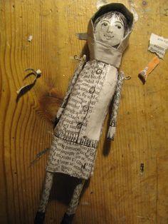Joy Williams - papier mâché art doll by jamjarart