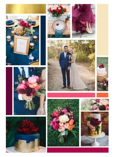 I am in love with our wedding colours, Navy, magenta and gold. Perfect for a different kind of summer wedding :)