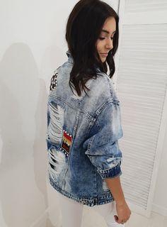 Ottanta - moda online Katana, Rock, Denim, Jeans, Jackets, Fashion, Down Jackets, Moda, Fashion Styles
