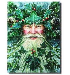 Yule Card - Spirit of Yule (Anne Stokes) :: Pagan Dreams