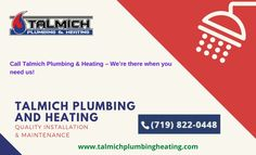 It is possible sometimes you are looking for instant plumbing services at your place. So if you are in Colorado Springs, CO areas then don't forget to appoint Colorado Springs plumber from Talmich Plumbing and Heating because they have plumbing professionals over 30 years experience. Water Heater Service, Residential Plumbing, Colorado Springs, 30 Years, Forget