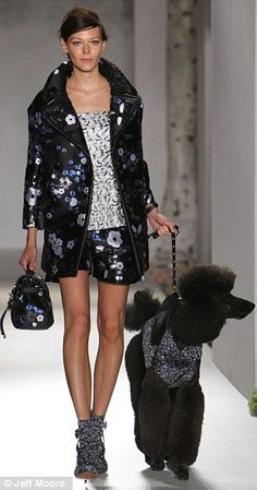 A model presents a creation from the Mulberry Spring/Summer 2013