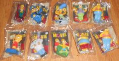 10 NEW 2007 Burger King The Simpsons Movie Fast Food Toys Lot Marge Barney Clown