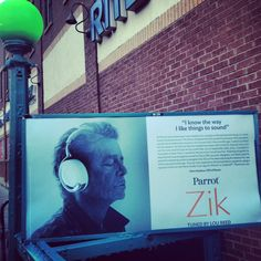 Parrot ZIK headphones -- Lou Reed's Final Interview is from photo shoot for Ad http://proofofuse.com/post/71429233524/parrot-zik-headphones-reg-no-4306877 (Carroll Street Station, Brooklyn)
