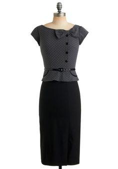 Streetcar Commute Dress | Mod Retro Vintage Printed Dresses | ModCloth.com - StyleSays