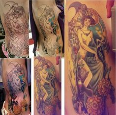 Master and Margarita from start to finish. Jackelope Tattoo Minneapolis, MN…