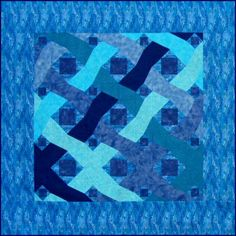 Ocean Waves free paper pieced quilt pattern. http://www.victorianaquiltdesigns.com/VictorianaQuilters/BlockoftheMonth/OceanWavesPaperPiecedQuiltPattern.htm A unique wavy 'Storm at Sea' quilt pattern. #quilting