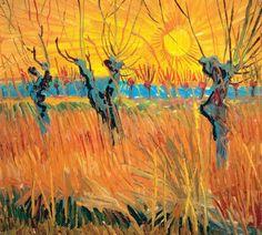 Vincent van Gogh, Saules au coucher du soleil.  Exposition à l'affiche au Musée des Beaux-Arts de Montréal jusqu'au 25 janvier 2015:  de Van Gogh à Kandinsky: de l'impressionnisme à l'expressionnisme.
