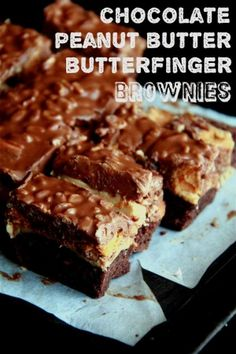Crumbs and Cookies: chocolate peanut butter butterfinger brownies. by angie