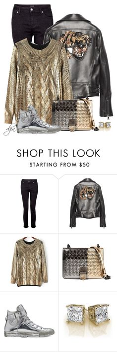 """""""Gucci Tiger Leather Jacket"""" by dgia ❤ liked on Polyvore featuring IDA, Gucci, Bottega Veneta and Converse"""