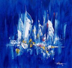 Sailboat Art, Sailboats, Photo D Art, Palette Knife Painting, Modern Artwork, Learn To Paint, Sailing Ships, Abstract Art, Fantasy