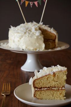 Delicious coconut cake def not for those on a diet...this recipe calls for 3 sticks of butter!