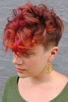 Styles for a Curly Pixie Cut to Ask For ★ See more: http://lovehairstyles.com/curly-pixie-cut/
