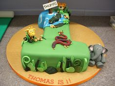 Thomas was King of the Jungle on his 1st Birthday! by The Foxy Cake Company, via Flickr