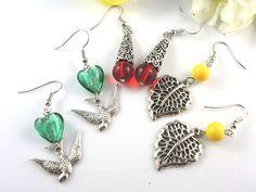 Set of 3 pair silver earrings. $6.50