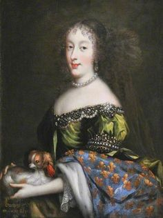 Henriette-Anne of England, duchesse d'Orléans, Minette (1644-1670), first wife of Monsieur, Philippe d'Orleans, 1660's by Jean Charles Nocret (1615-1675)