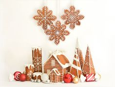 Faux Gingerbread Box  Set  Gift box  Faux by DaydreamHunter