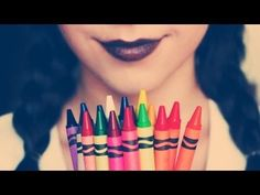 DIY: Make lipstick out of CRAYONS! - YouTube - uses coconut oil and crayons - option to make a sheen vs matte lipstick