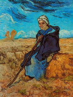Vincent van Gogh The Shepherdess (after Millet) - The Largest Art reproductions Center In Our website. Low Wholesale Prices Great Pricing Quality Hand paintings for saleVincent van Gogh Rembrandt, Vincent Van Gogh, Art Van, Claude Monet, Van Gogh Arte, Theo Van Gogh, Van Gogh Pinturas, Georges Seurat, Van Gogh Paintings