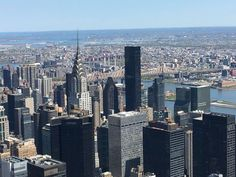 What a beautiful view.  Standing on the Empire State Building.